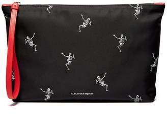 Alexander McQueen Dancing Skeleton-print pouch