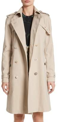 ADAM by Adam Lippes Embellished Button Trench Coat