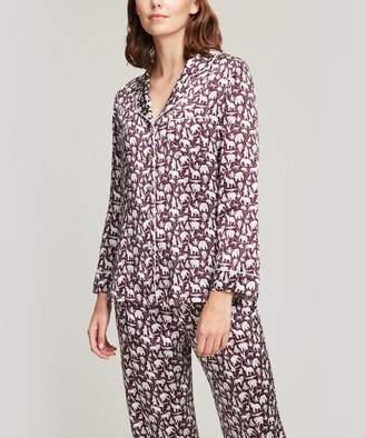 00b371c1d3d Liberty London Midnight Mischief Silk Satin Long Pyjama Set