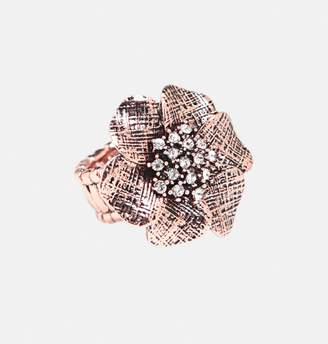 Avenue Rose Gold Flower Ring