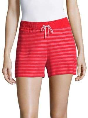 Sandro Striped Drawstring Shorts