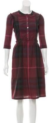 Burberry Nova Check Knee-Length Dress