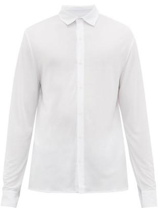 Vilebrequin Logo Embroidered Jersey Shirt - Mens - White