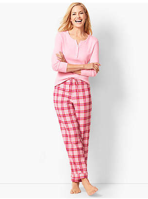 Talbots Pajama Set - Flannel Glen Plaid