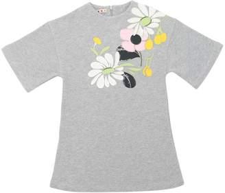 Marni Junior Embellished Cotton Sweatshirt Dress