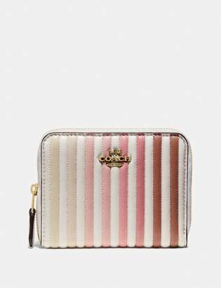 Coach Small Zip Around Wallet With Ombre Quilting