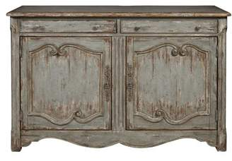 August Grove Henriksen Coastal Inspired 2 Door Bar Cabinet