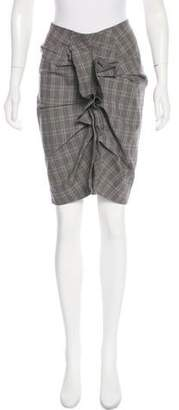 Isabel Marant Ruched Accent Knee-Length Skirt
