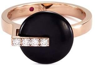 Roberto Coin 'Colored Treasures' diamond jade 18k rose gold ring