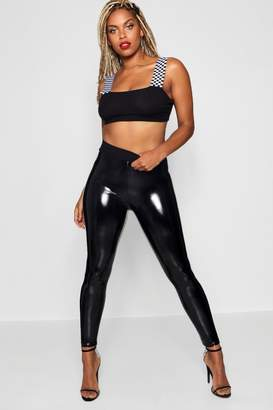 boohoo Eliza High Shine Vinyl Leggings