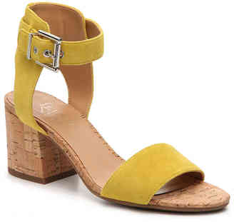 Women's Melody Sandal -Yellow Suede $80 thestylecure.com
