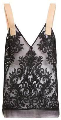 No.21 No. 21 - Sheer Lace Top - Womens - Black