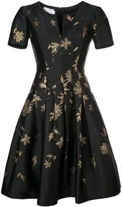 Oscar de la Renta flared floral dress