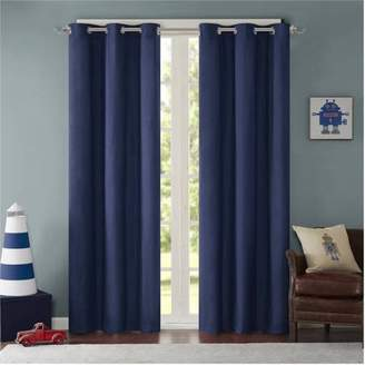 Home Essence Teen Edson Solid Grommet Top Curtain Panel Pair