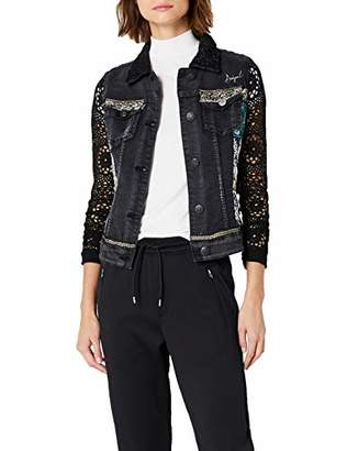 Desigual Women's Rachele Embroidered Detail Denim Jacket