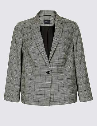 Marks and Spencer CURVE Checked Blazer