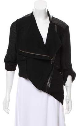 Helmut Lang Cropped Asymmetrical Jacket