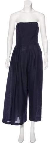 Christian Dior Mohair & Wool-Blend Strapless Jumpsuit