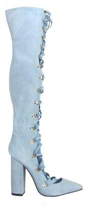 Privileged Pollie Over-the-Knee Lace-Up Boot