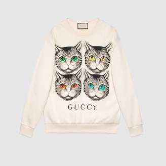 Gucci (グッチ) - ミスティックキャット プリント オーバーサイズ スウェットシャツ