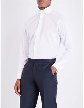Eton Contemporary-fit double-cuff cotton shirt