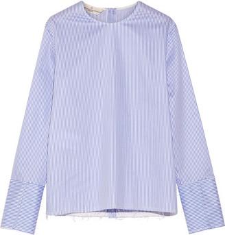 Golden Goose Deluxe Brand - Striped Cotton-poplin Shirt - Blue $460 thestylecure.com