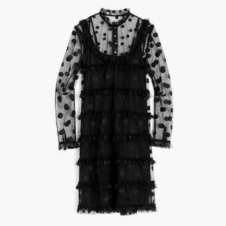 J.Crew Polka-dot embroidered tulle dress