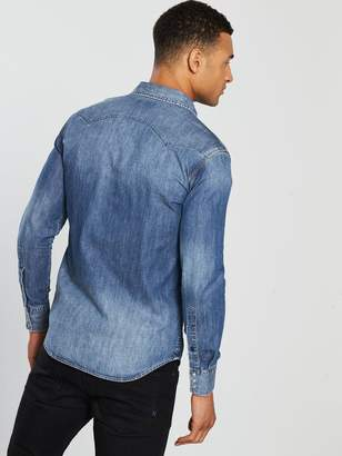 Replay Jeans Embroidery Denim Shirt