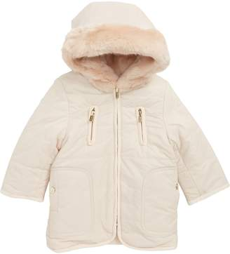Chloé Reversible Hooded Faux Fur Puffer Jacket