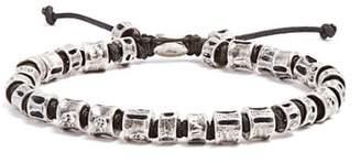 M. Cohen Sterling Silver Bone Bracelet - Mens - Silver Black