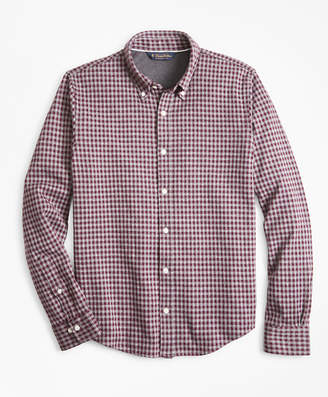 Brooks Brothers Gingham Button-Down Knit Shirt