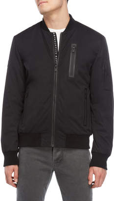 Superdry Black Nova Surplus Goods Bomber Jacket