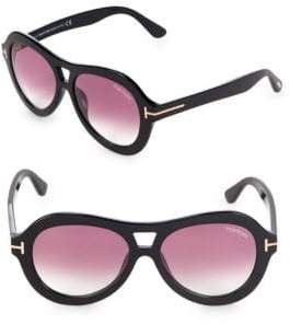 Tom Ford 56MM Round Sunglasses