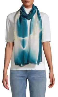 Eileen Fisher Printed Merino Wool Scarf