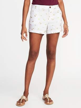 Old Navy Mid-Rise Everyday Linen-Blend Shorts for Women - 3.5 inch inseam