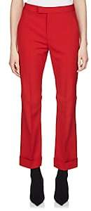 Maison Margiela Women's Crop Cuffed Trousers-Red