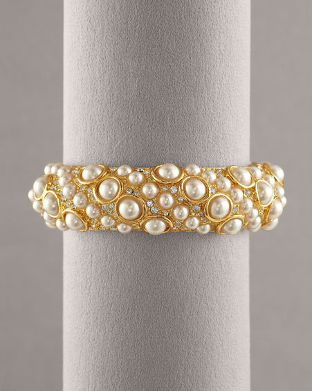 Kenneth Jay Lane Faux-Pearl Cuff