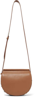 Givenchy Infinity Mini Chain-trimmed Leather Shoulder Bag - Brown