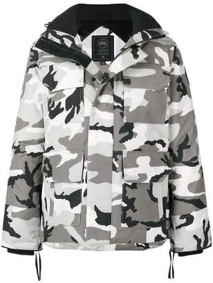 Canada Goose patch pocket rain jacket