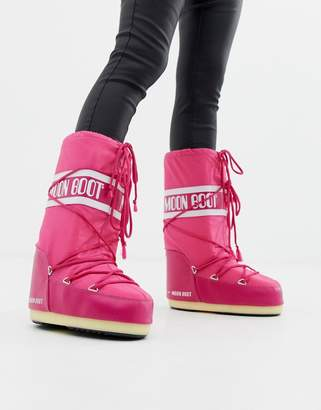 Moon Boot Nylon Icon Snowboots in Pink