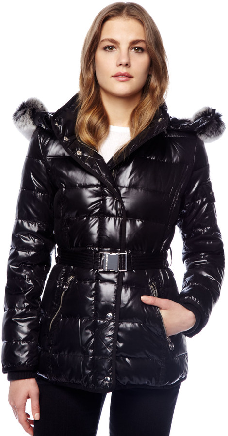 Michael Kors Fur-Lined Puffer Coat