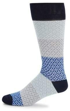 Saks Fifth Avenue Chain Rows Crew Socks