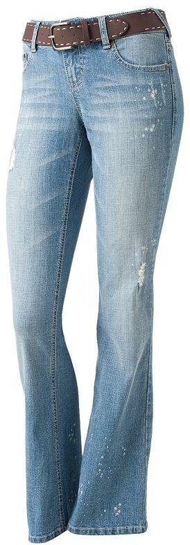 So® bleach splatter bootcut jeans