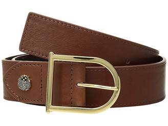 Vince Camuto Smooth Leather Belt with Signature