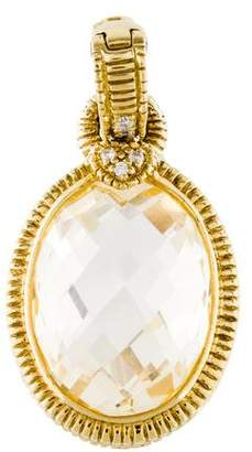 Judith Ripka 18K Diamond & Canary Crystal Enhancer Pendant
