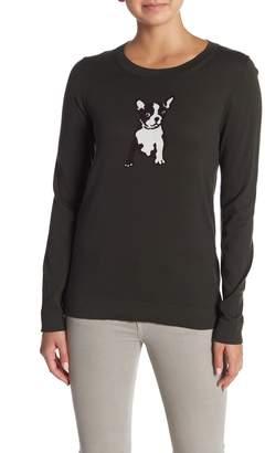 J.Crew J. Crew French Bulldog Crew Neck Sweater