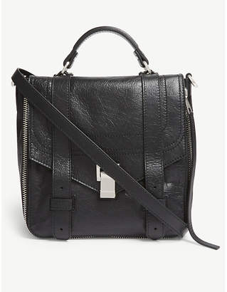 Proenza Schouler Black PS1 Paper Leather Backpack