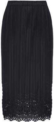 Pleats Please Issey Miyake Sheer Lace Midi Laser Skirt
