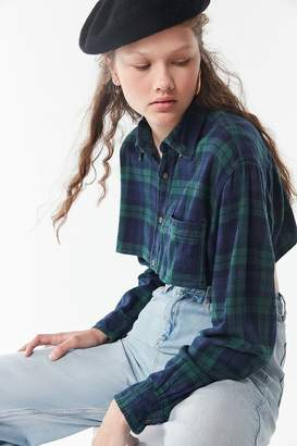 Urban Renewal Vintage Remade Cropped Flannel Top
