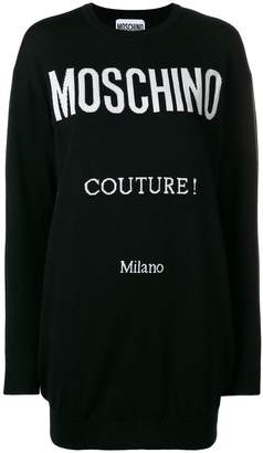 Moschino logo intarsia knit dress
